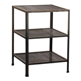 Three-Tier Expanded Metal Shelf Unit, Custom Made For Sale