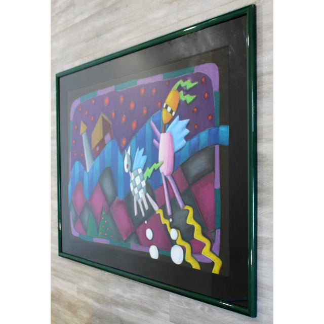 For your consideration is a showstopping, framed pastel painting, circa the 1970s 1980s. In excellent condition. The...