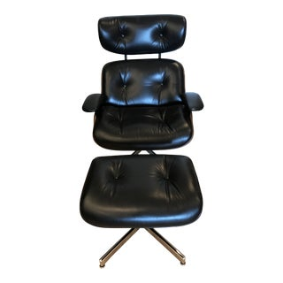 1960s Vintage Plycraft Lounge Chair and Ottoman For Sale