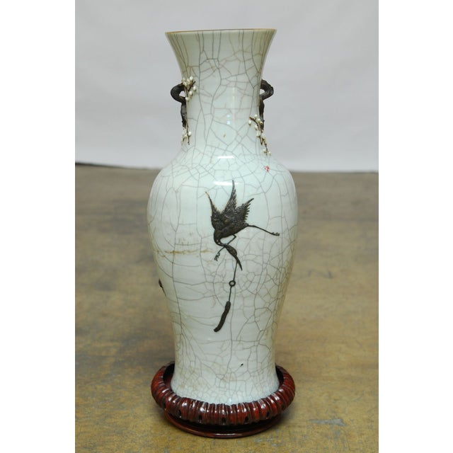 Chinese Qing Dynasty Crackle Glazed Dragon Vase For Sale - Image 7 of 8