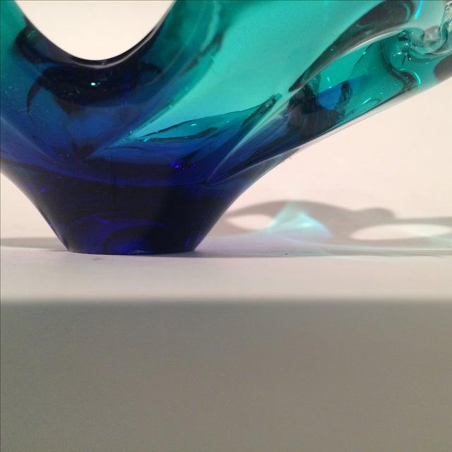 Murano Blue/Green Art Glass Dish - Image 4 of 5