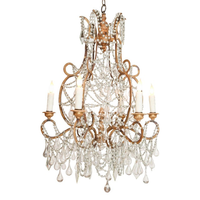 Gold Early 20th Century Italian Chandelier For Sale - Image 8 of 8