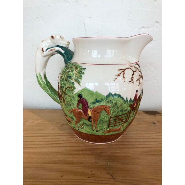 Wedgwood Wedgewood Hound Handled Hunt Pitcher For Sale - Image 4 of 6