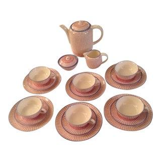 Mid-Century H.B Workshop Velten Keramik Coffee/Dessert Set - Set of 23 For Sale