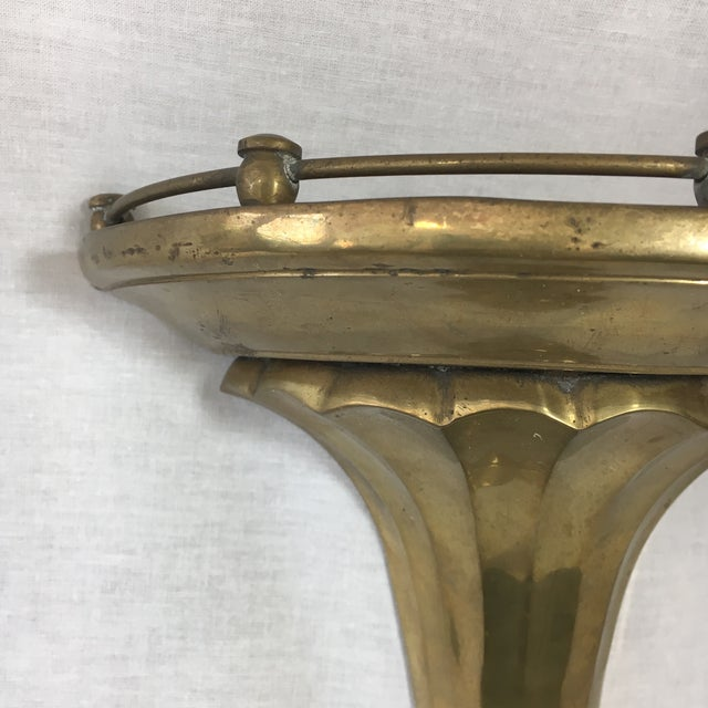 Brass Florentine Wall Sconce Shelf - A Pair - Image 6 of 11