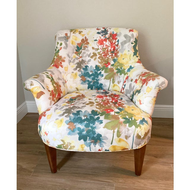 2010s Modern Arhaus Floral Chair For Sale - Image 5 of 5