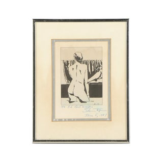 Vintage Black & White Nude Print For Sale