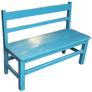 Vintage Blue Child's Bench Preview