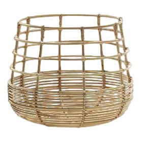 Cane-Line Sweep Basket, Round For Sale