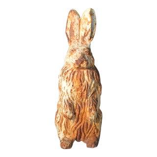 Antique Cast Iron Rabbit Statue For Sale