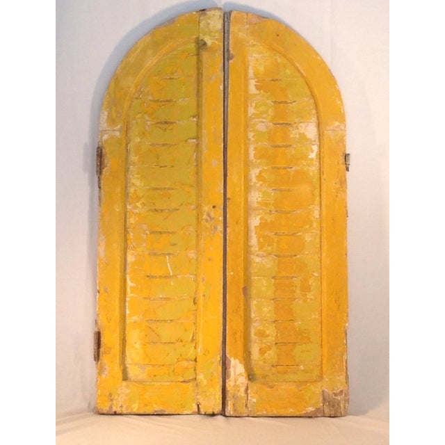 Rustic Arch Top Shutters - a Pair - Image 2 of 8