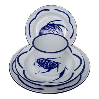 Enameled Tableware Setting - Set of 8
