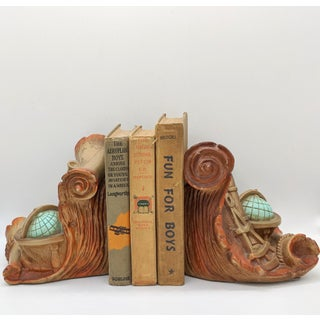 1960's Vintage Nautical Map Treasure Island Bookends - a Pair Preview