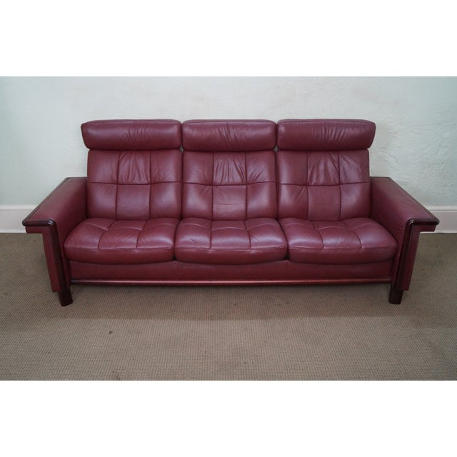 Ekornes Stressless Leather Reclining Sofa - Image 2 of 10