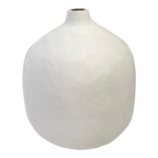 The Gam Round Plaster Coated Vase For Sale