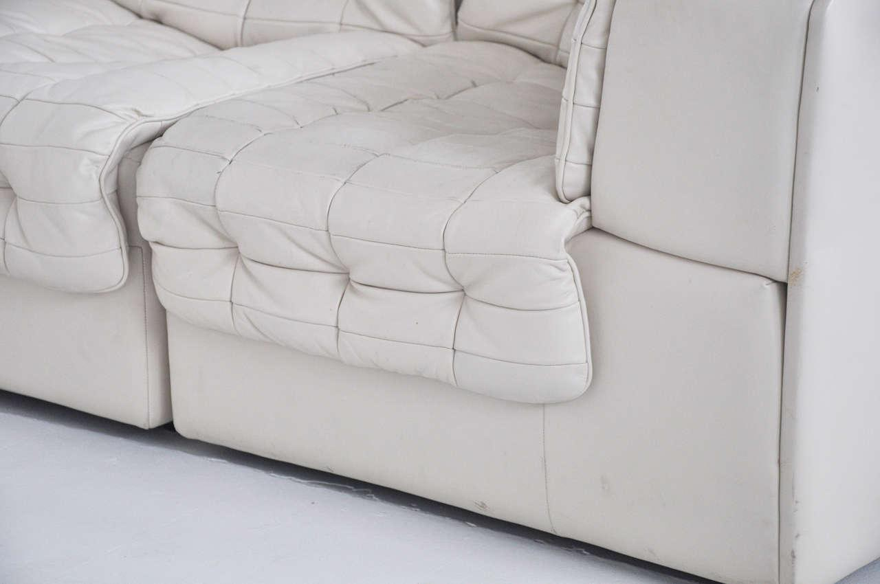 De Sede White Leather Sectional Sofa   Image 9 Of 10