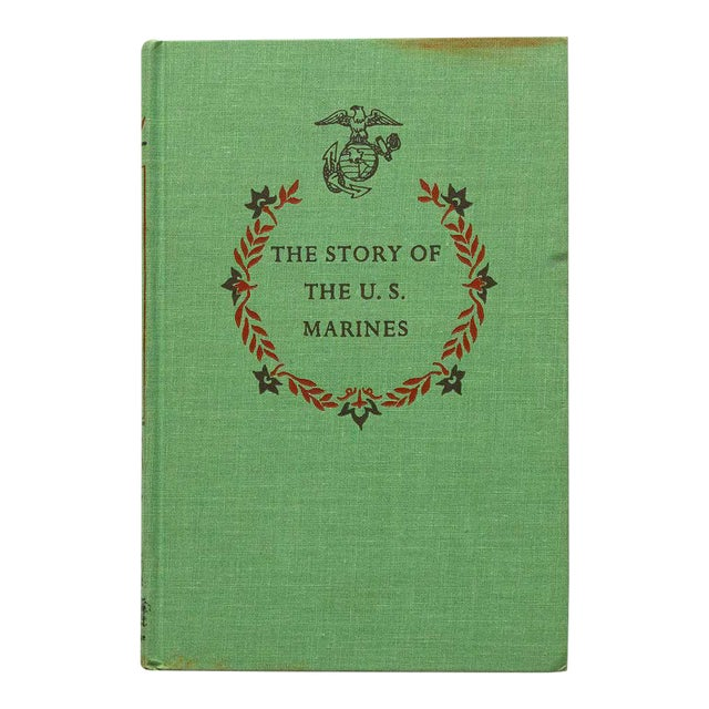 1950s Traditional Vintage US Marines Army History Book For Sale