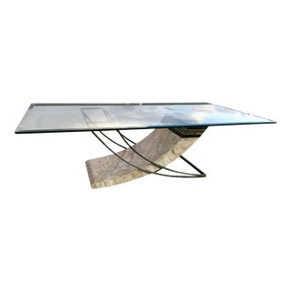 Modern Art Deco Tessellated Fossil Table by Magnussen Presidential For Sale