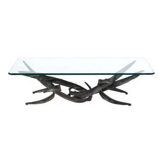 Silas Seandel Brutalist Coffee Table For Sale