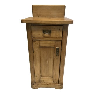 19th Century European Pine Nightstand For Sale
