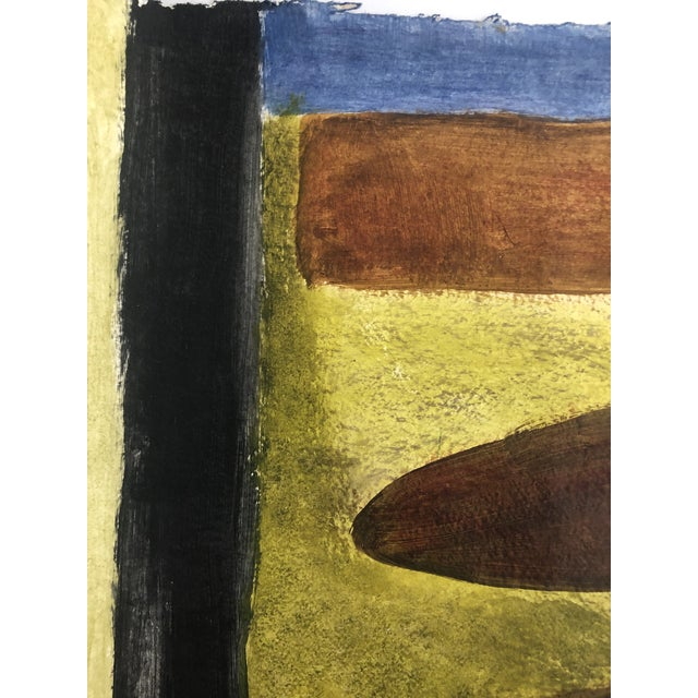 Abstract 1950s Vintage Richard M. Goodwin Mid-Century Modern Abstract Painting For Sale - Image 3 of 7