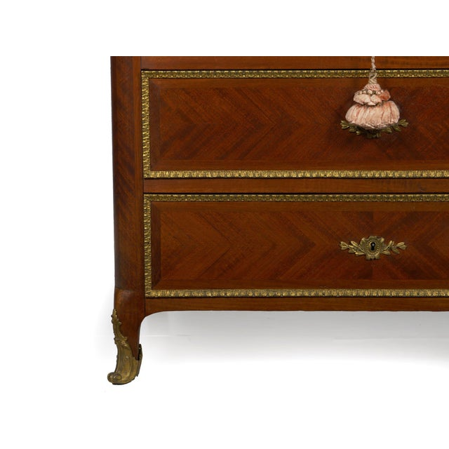 19th Century French Antique Dressing Table Commode Chest of Drawers For Sale - Image 10 of 13