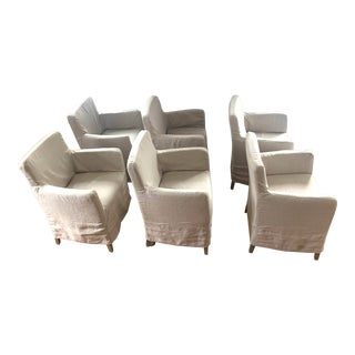 Contemporary Dining Chairs - Set of 6 For Sale