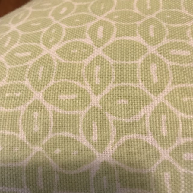 Quadrille Melong Celadon Linen Pillows - A Pair For Sale In Raleigh - Image 6 of 8