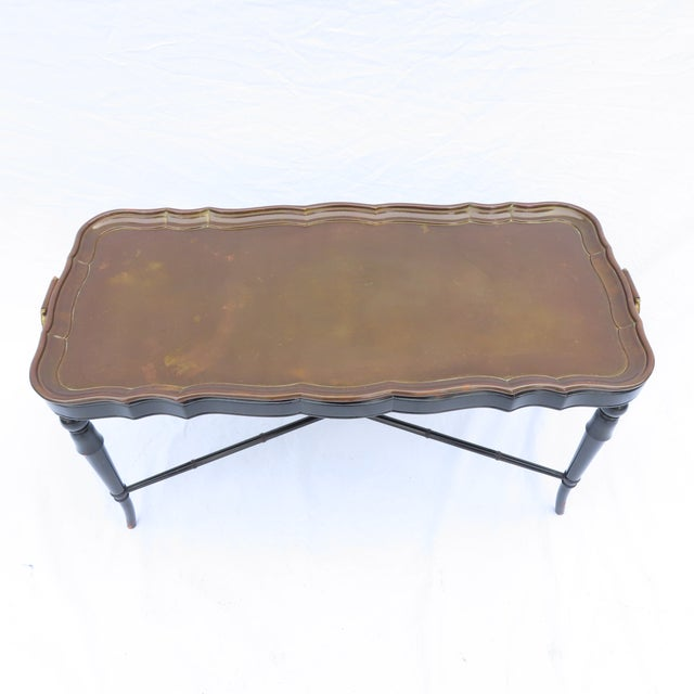 Fine quality vintage tray top coffee table. Coming from the 1950s office of a Wall Street investment banker. Had been...