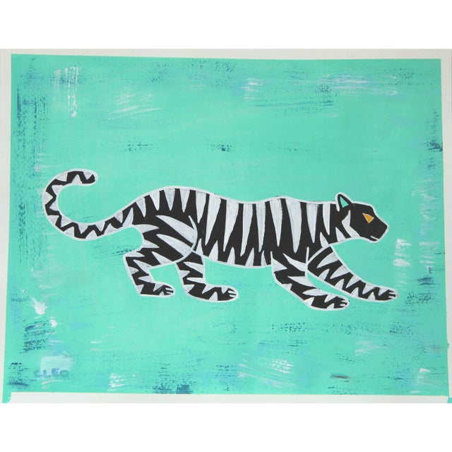 2020s Abstract Leopard Chinoiserie by Cleo Plowden For Sale - Image 5 of 7
