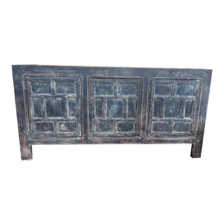 Distressed Elm Wood Buffet For Sale