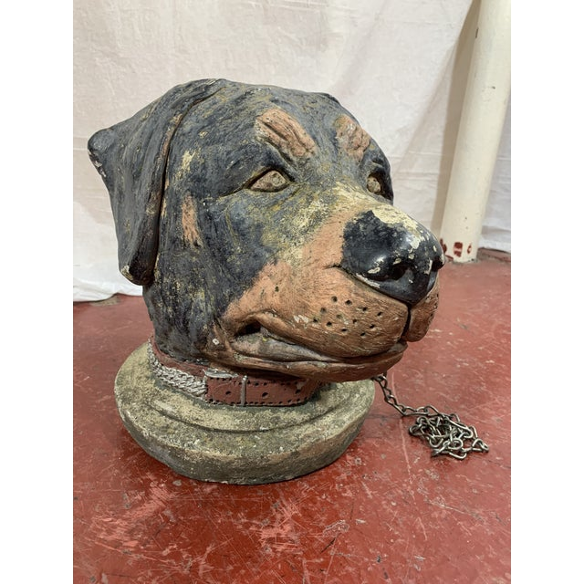 French Cast Stone Dog Post Finial For Sale - Image 9 of 9