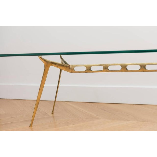 Italian Brass Cocktail Table For Sale In San Francisco - Image 6 of 8