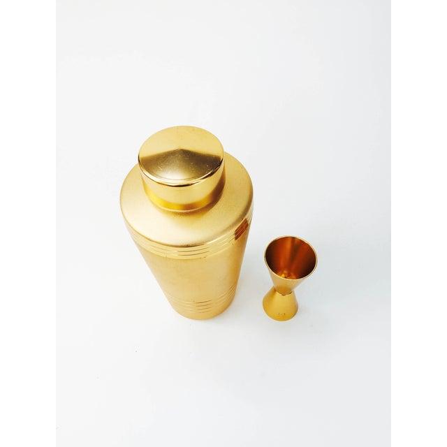 Vintage Mirro Gold Aluminum Cocktail Shaker Set - Image 4 of 6