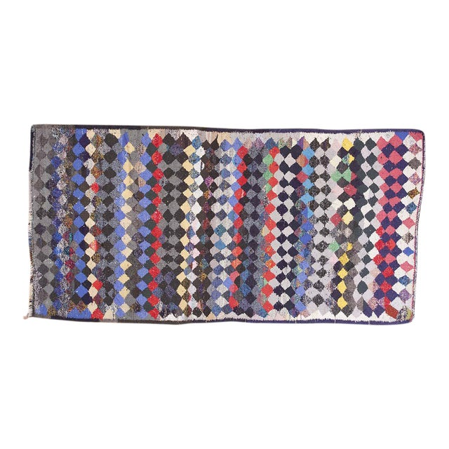 Vintage Persian Handmade Kilim Rug - 4′8″ × 9′3″ For Sale