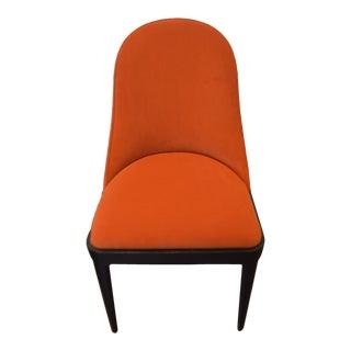Modern Round Back Dining Chair Upholstered in Kravet's Crypton Washable Velvet Available for Custom Order For Sale