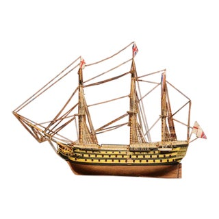"""Important Mid-20th Century British Sailboat Flagship Model the """"Hsm Victory"""" For Sale"""