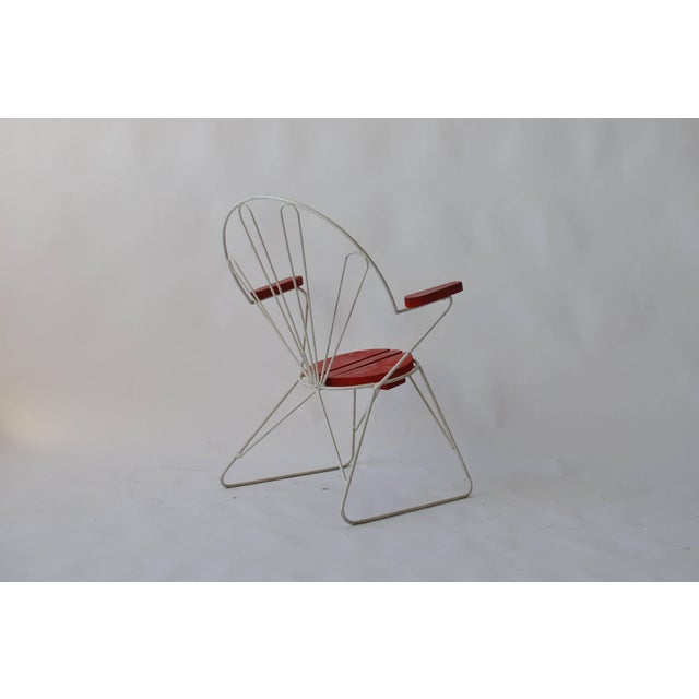 Mid 20th Century Pair of Swedish Garden Chairs For Sale - Image 5 of 6