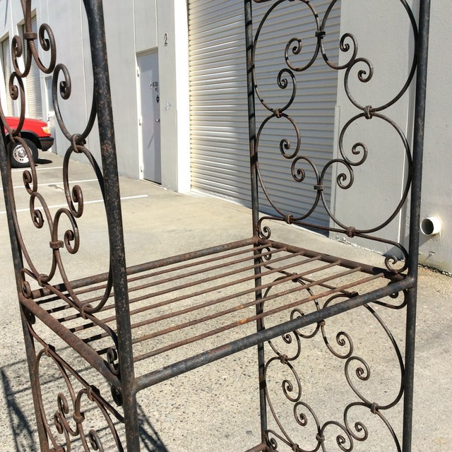 Scrolling Iron Etagere For Sale - Image 4 of 11