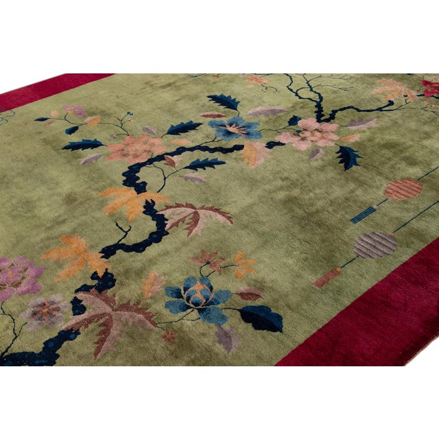 Early 20th Century Antique Chinese Art Deco Rug For Sale - Image 4 of 8