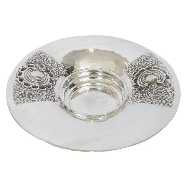 XL Repoussé Silver Bowl For Sale