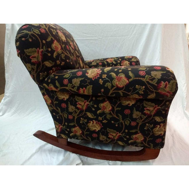 Americana Early 20th Century Overstuffed Rocker For Sale - Image 3 of 10