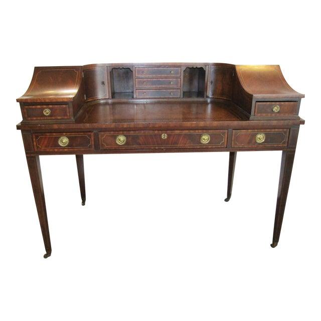 Sheraton Style Mahogany Carlton House Desk For Sale