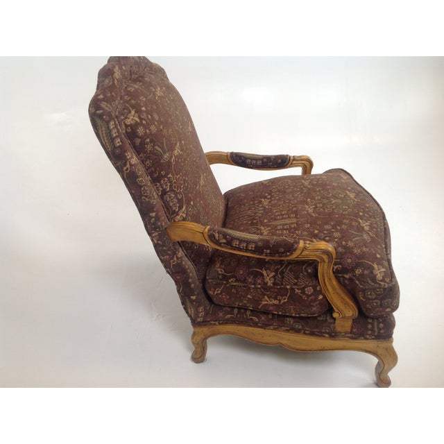 Baker Country French Lounge Chair & Ottoman - Image 8 of 8