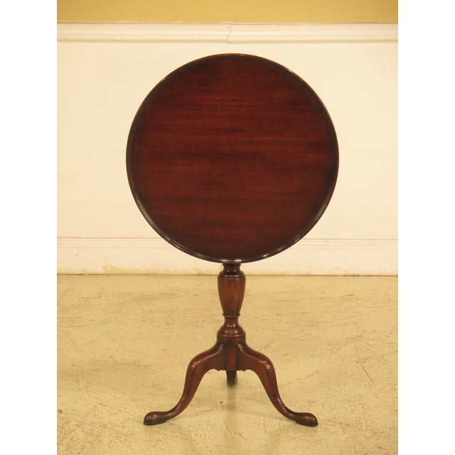 Kittinger Cw-11 Colonial Williamsburg Mahogany Tilt Top Table - Image 11 of 11