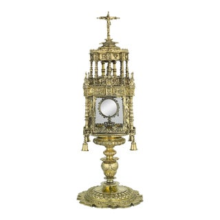 16th-Century Spanish Silver-Gilt Monstrance For Sale