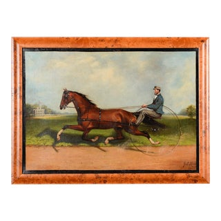 James Hill -19th Century Famous Horse Racing Oil Painting For Sale