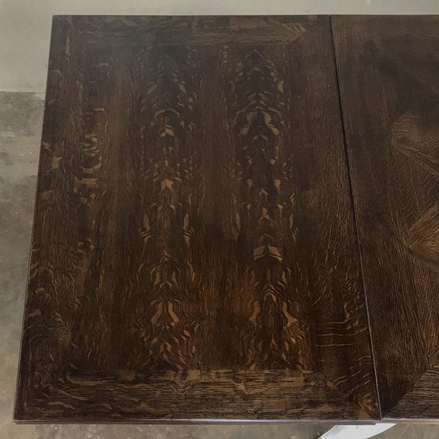 Antique Country French Draw Leaf Painted/Stained Dining Table For Sale In Dallas - Image 6 of 12