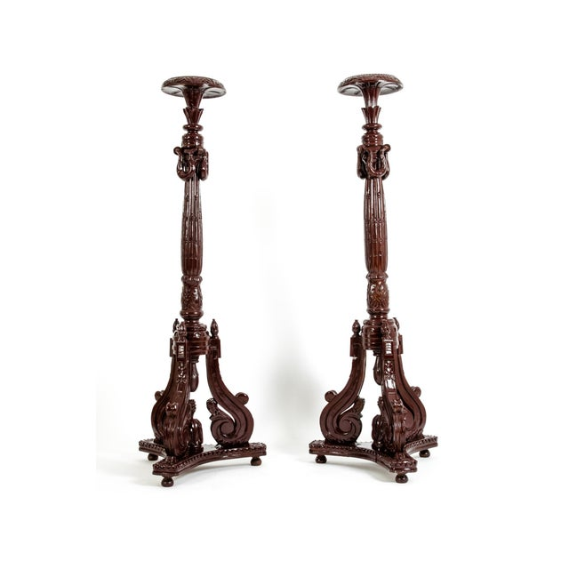 Georgian George III Style Torcheres / Pedestals - a Pair For Sale - Image 3 of 13