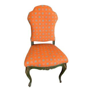 1930s Vintage Hand-Painted Accent Chair For Sale